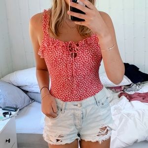 Missguided Floral Bodysuit
